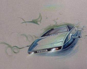 007 Lotus Esprit swimming with the fishes
