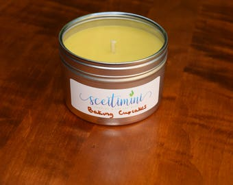 Baking Cupcakes Soy Candle in 8oz Tin with Lid