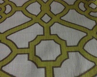 8 yards Celery Green Geometric Fabric         #11