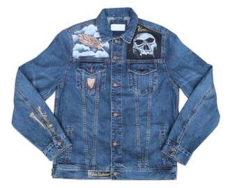 Avian Vs Ophidian / Denim Jacket