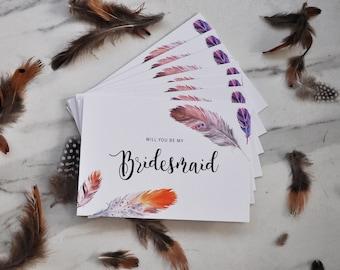 Bridesmaid Card - Phoenix Range