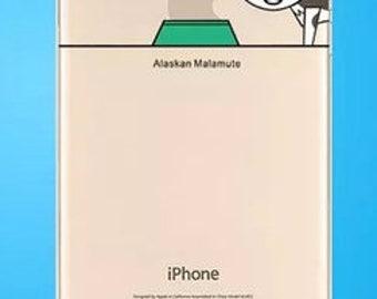 Alaskan Malamute iPhone 6S Plus cell phone case