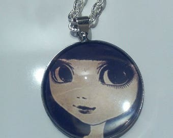 Silver necklace, Big Eyes