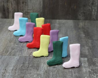 Wellington Boot Edible Cupcake Toppers Set of 12
