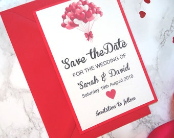 Stunning Red valentines save the date - SAMPLE