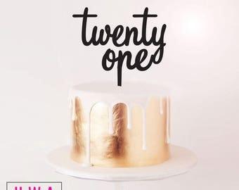 Birthday Cake Topper - twenty one