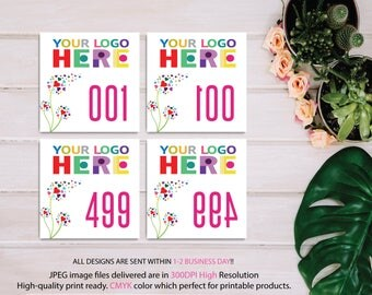 Dot Dot Smile Live Sale Number 1-500 Normal, Mirrored Number 1-500, Dot Dot Smile Facebook Live Sale, DDS Marketing, Printable Items DD7