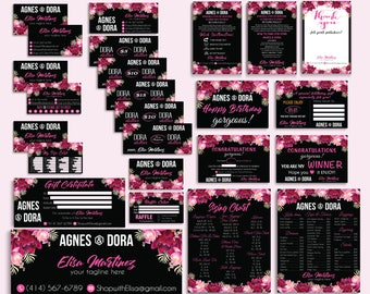 Agnes Dora Marketing Kit, Agnes and Dora Bundle, PERSONALIZED Agnes Dora Cards, Floral Agnes Dora Marketing, Printable AG16
