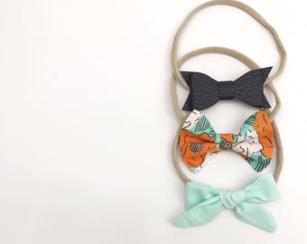 Island Breeze Set of Three (3) Headband Bows
