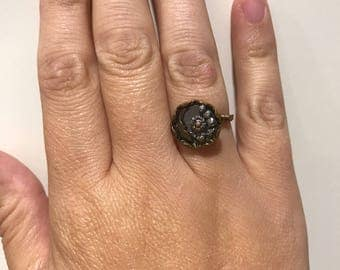 Antique button ring