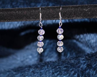 Four Bead Drop Earrings