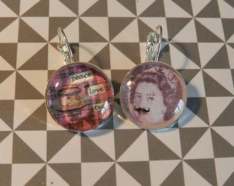 Pair of God save the Queen earrings