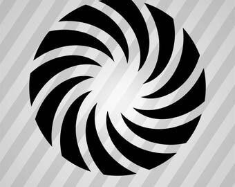 Camera Shutter Silhouette - Svg Dxf Eps Silhouette Rld RDWorks Pdf Png AI Files Digital Cut Vector File Svg File Cricut Laser Cut