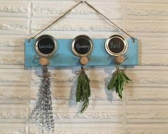 Herb drying rack, reclaimed wood, home decor, culinary kitchen cooking gift, storage rack