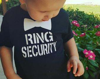 Ring Bearer Shirt - Ring Security Shirt - Wedding Rehearsal Shirt - Wedding Shirt Ring Bearer - Ring Bearer Gift - Ring Bearer Outfit