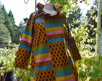 African women's dress coat, long dress coat.
