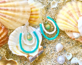 summer earring with drop