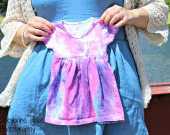 Tie dye baby girl dress
