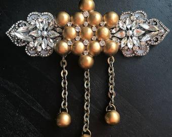 Antique Handmade Brooch Wedding Belt Adornment