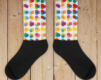Casual Socks For Daily Use - Colorful Polka Dots