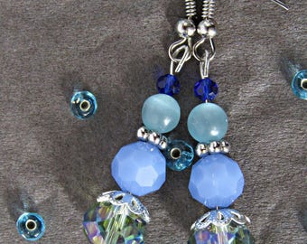 Earrings Oriental fancy blue