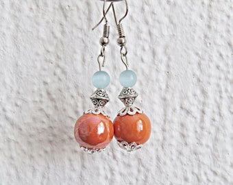 Tropical Oriental fancy earrings