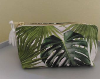 Small cosmetic case foliage