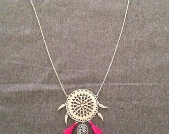 Tassels necklace nightmare catcher pink