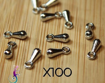 100 charms silver metal drop charms