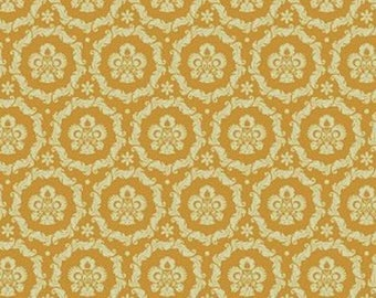 Fabric coupon 50/35 cm, TILDA, Round Ornament Tea 480069 Lily