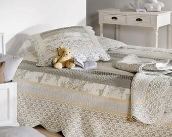 Plaid, quilts, bedspreads, flowers, 230 x 250 cm L l