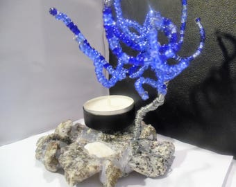 tree of pearls and granite candlestick