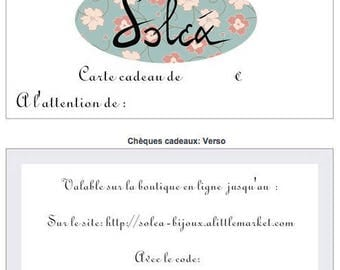 Solea jewelry €20 gift card