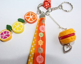 Jewelry bag, Keychain, citrus, lemon, grapefruit, orange