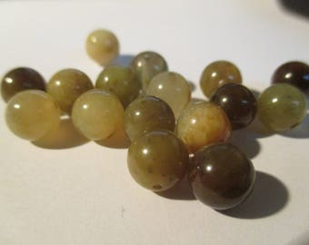 10 beautiful 8 mm Brown and yellow agate beads