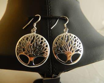 Tree of life hook earrings