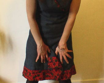 wax and linen wrap dress