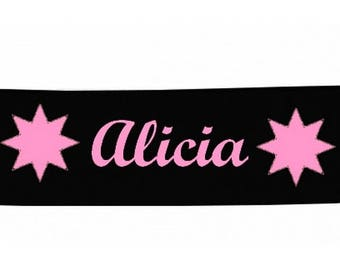 Black girl stars personalized with name banner