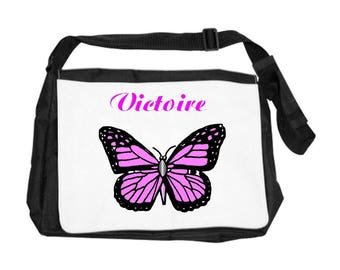 Personalized with name Butterfly shoulder bag