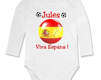 Personalized with name Viva España baby Bodysuit