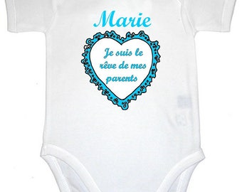 Dream of my parents personalized with name Bodysuit