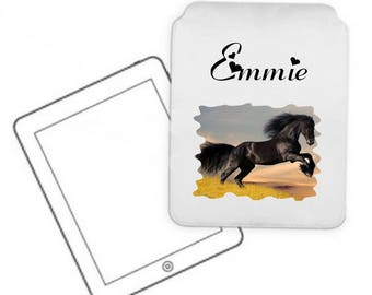 Cover for tablet pc horse personalized with name
