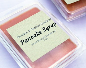 Pancake Syrup Wax Melt | Handmade Wax Tart | Pancake Maple Syrup Scented Wax Tart | Housewarming Gift | Maple Syrup Candle | Soy Wax Melt
