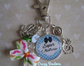 """Keychain or bag charm """"Teacher"""""""