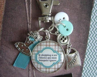 "Keychain / bag charm ""phrase humor"""