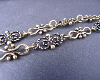 50 cm chain fancy links 20 mm x 10 mm and 17 mm x 7 mm, bronze (CC0205)