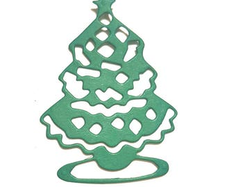 Cuts scrapbooking Christmas tree set of 5 cutouts