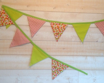 Garland of 9 flags decorative 2 m 20
