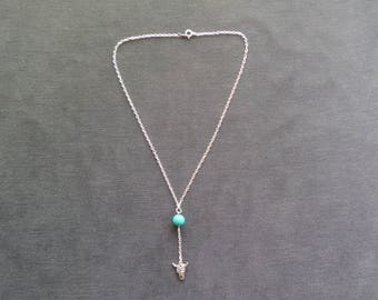 Gypsy turquoise and skull Choker