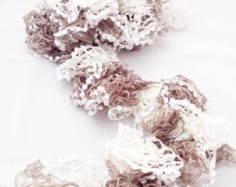 """""""Natural tones"""" frilly ruffle scarf"""